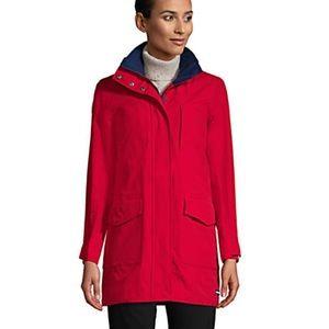 Red Nylon Front Pocket Coat